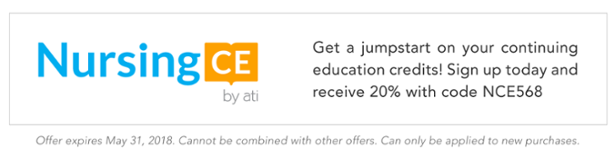 Get a jumpstart on your continuing education credits! Sign up today and receive 20% with code NCE568