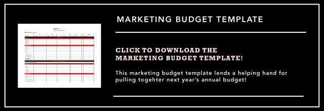 Annual Marketing Budget Template by Colosi Marketing