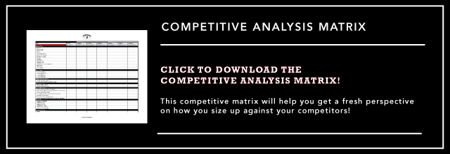 Competitive Analysis Matrix provided by Colosi Marketing