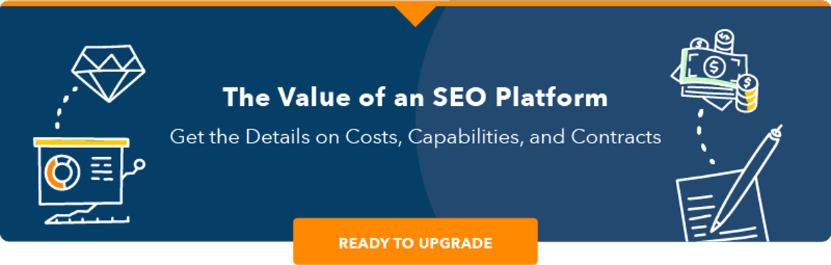 Value of an SEO Platform CTA