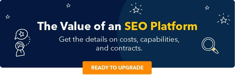 Value of an SEO Platform CTA
