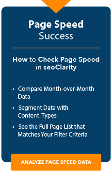 how to check page speed in seoclarity
