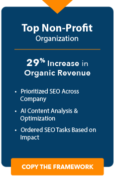nonprofit case study or seoclarity button
