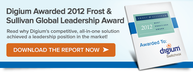 Frost and Sullivan Award Digium