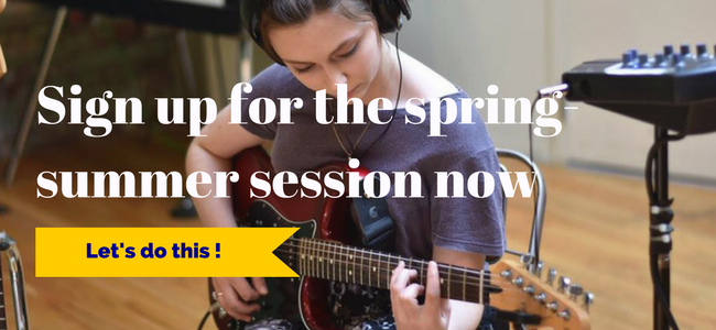 Sign up for the spring - summer 2019 session