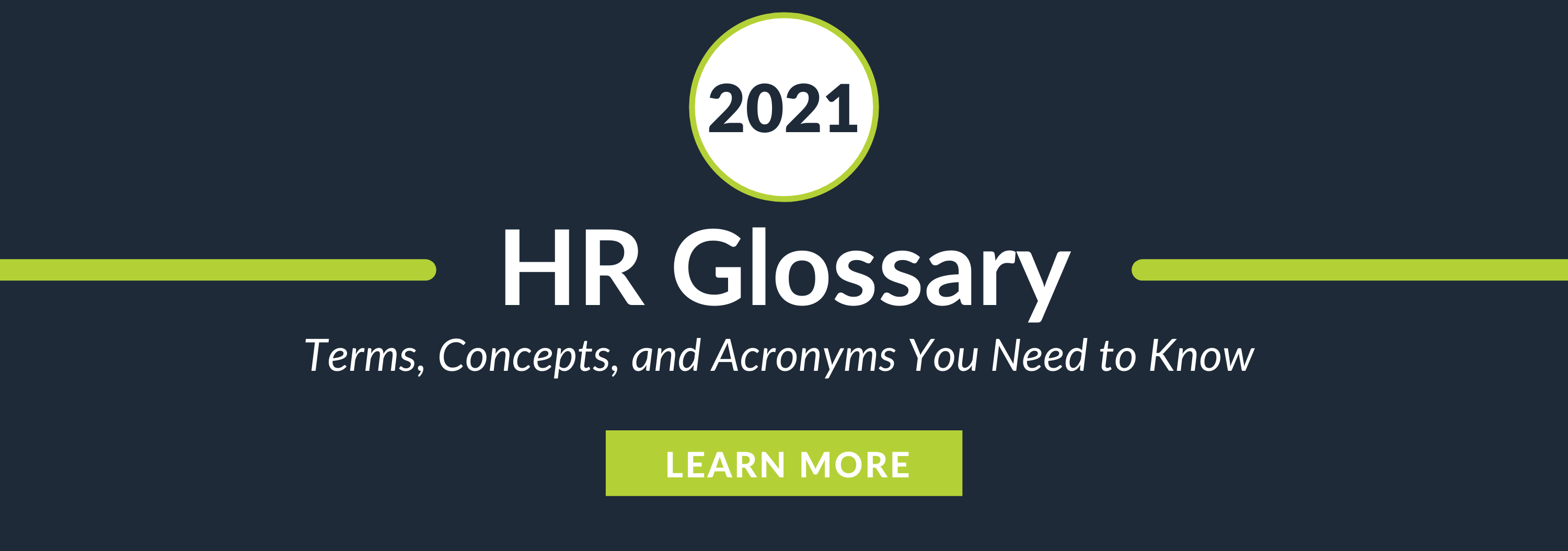 HR Glossary: Terms, Concepts, and Acronyms You Need to Know
