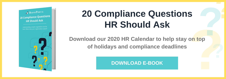 20 Compliance Questions HR Should Ask