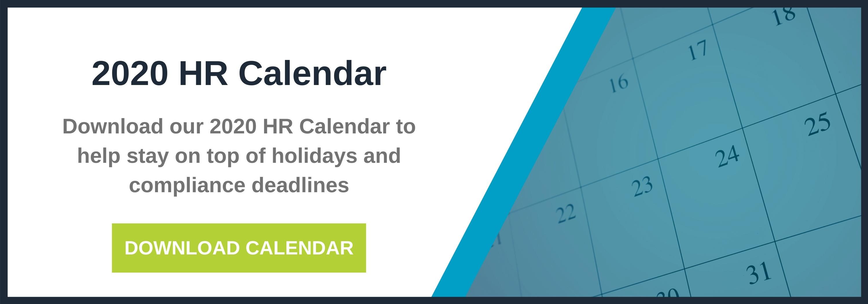 2020 HR Calendar