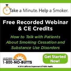 Free Continuing Education Course--Smoking and Substance Use Disorders
