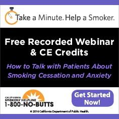 Free Continuing Education Course--Smoking and Anxiety