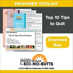 Provider Toolkit-Top 10 tips for Quitting Smoking