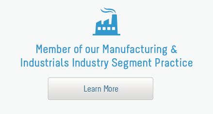 Member of our Manufacturing & Industrials Industry Segment Practice