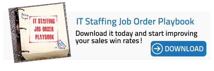 IT staffing job order playbook