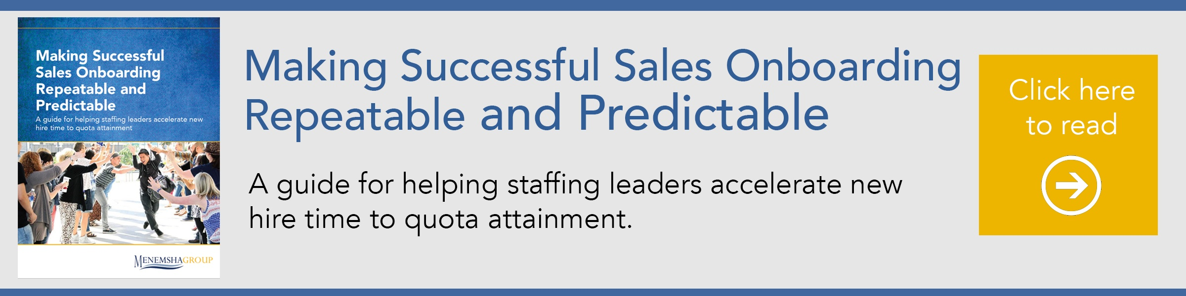 Making Successful Sales Onboarding Repeatable and Predictable