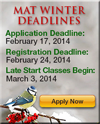 2014 MAT Winter Deadlines