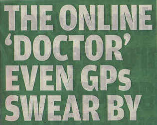 Symptom checker Daily Mail article