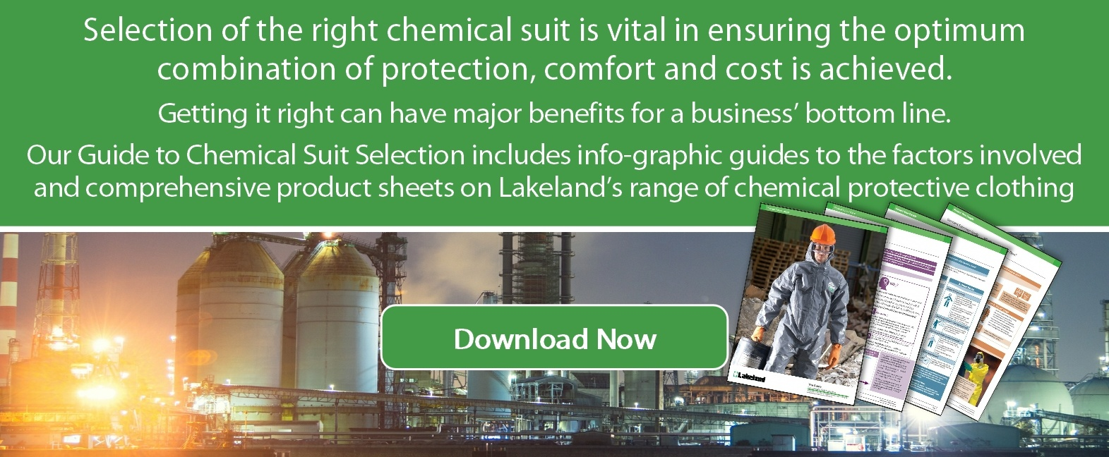 Download our free guide to selecting the Best Chemical Resistance Clothing for the Job