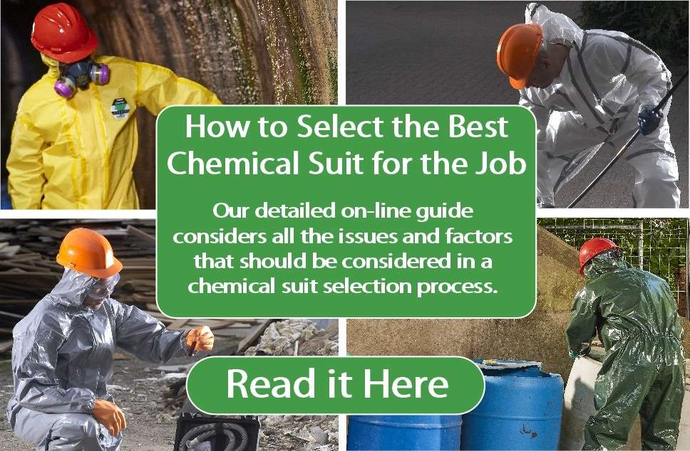 Read our on-line guide to selecting the Best Chemical Safety Clothing