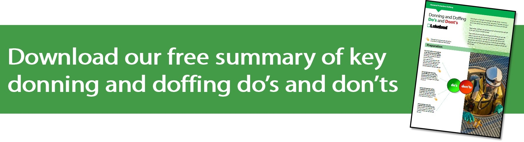 Download a free guide to donning and doffing do's and don'ts