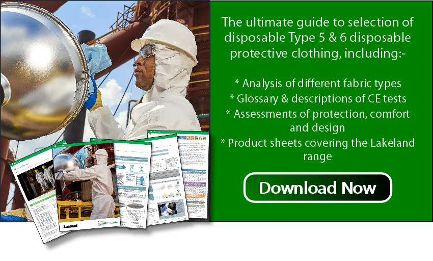 Download the ultimate guide to type 5 & 6 disposable coverall selection