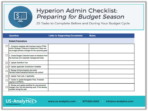 hyperion-administrator-prepare-for-budget-cycle-checklist