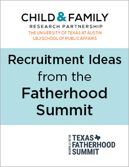 Recruitment ideas for fatherhood programs