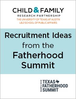Recruitment ideas for fatherhood programs
