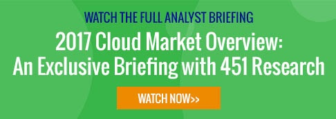 2017 Cloud Market Overview - An Exclusive Briefing with 451 Research - Register Now