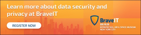 Learn more about data security and privacy at BraveIT in NYC on 9/19/19