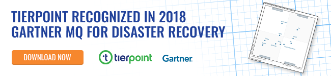 Read the full report - 2018 Gartner Magic Quadrant for DRaaS