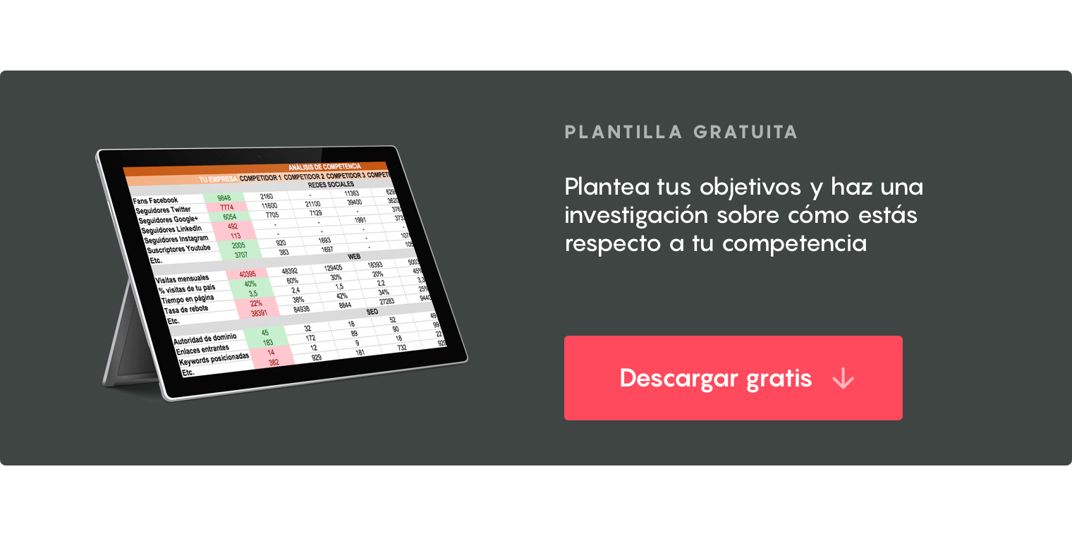 plantilla benchmarking
