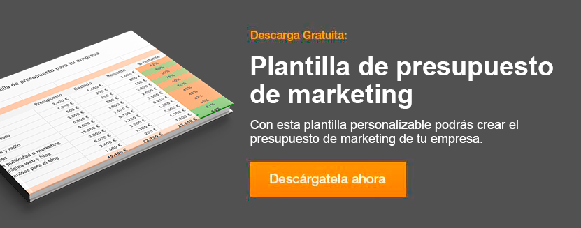 plantilla presupuesto de marketing