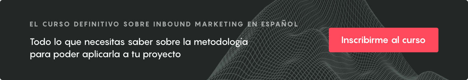 CTA horizontal - Curso online inbound marketing