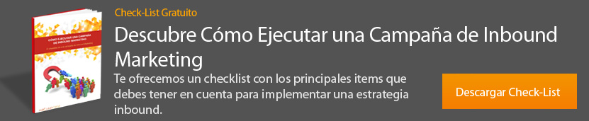checklist ejecutar una campaña de inbound marketing