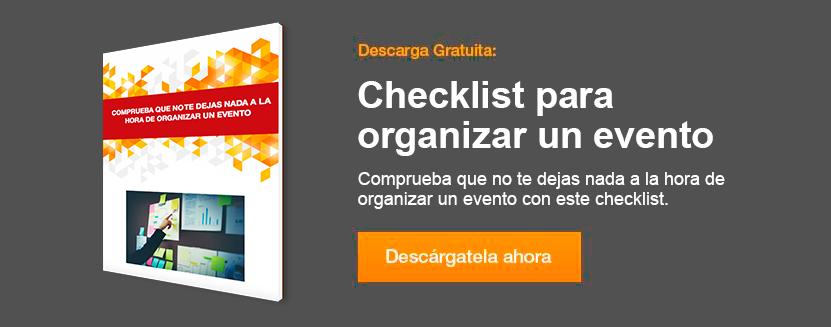 Checklist como organizar un evento