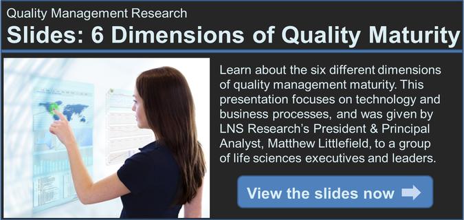 quality maturity model