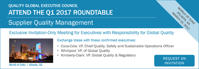 Supplier Quality Management Roundtable 2017