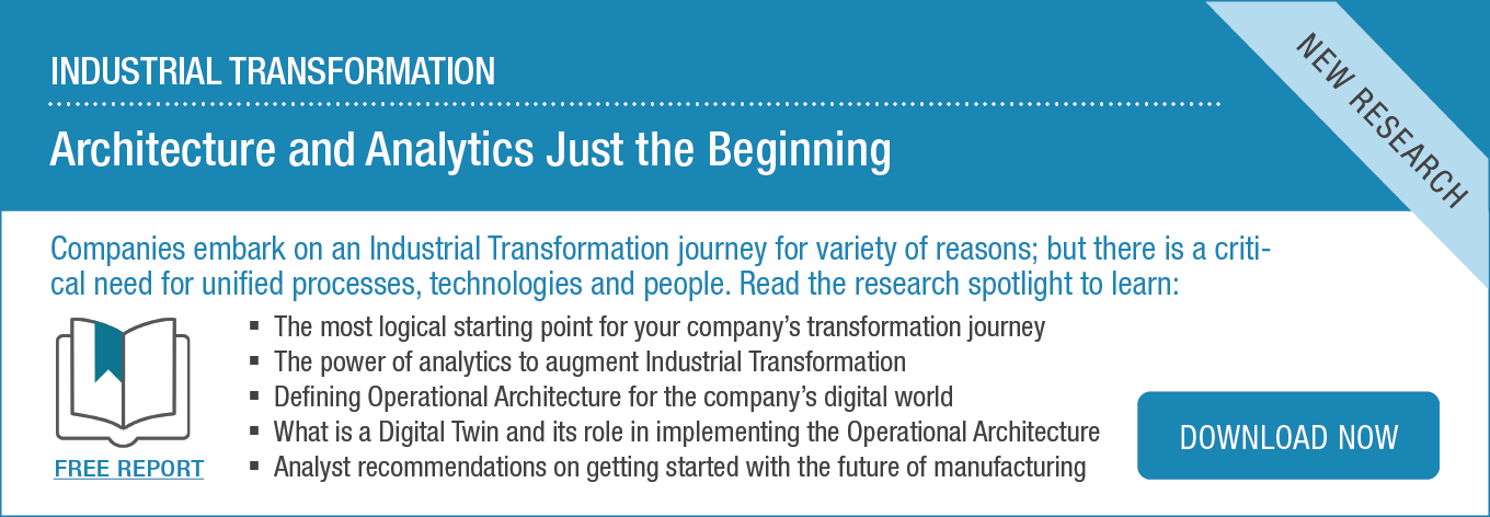 Research Spotlight: Industrial Transformation | Architecture and Analytics Just the Beginning