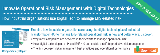 EHS 4.0 Innovate Operational Risk Management with Digital Technologies