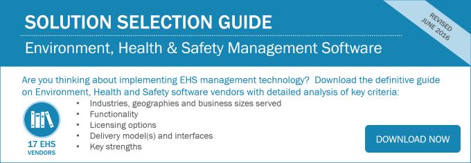 EHS Solution Selection Guide