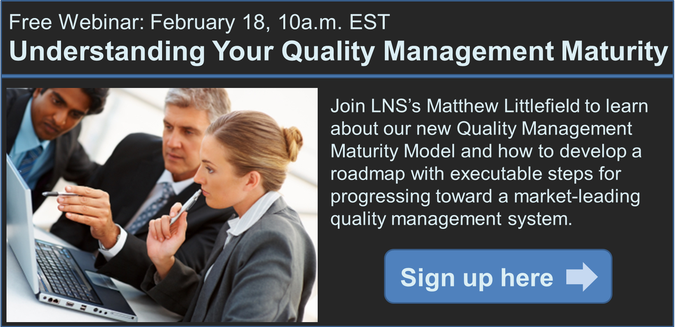 quality maturity model webcast