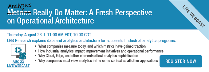 Webcast: Analytics Really Do Matter: A Fresh perspective on Operational Architecture