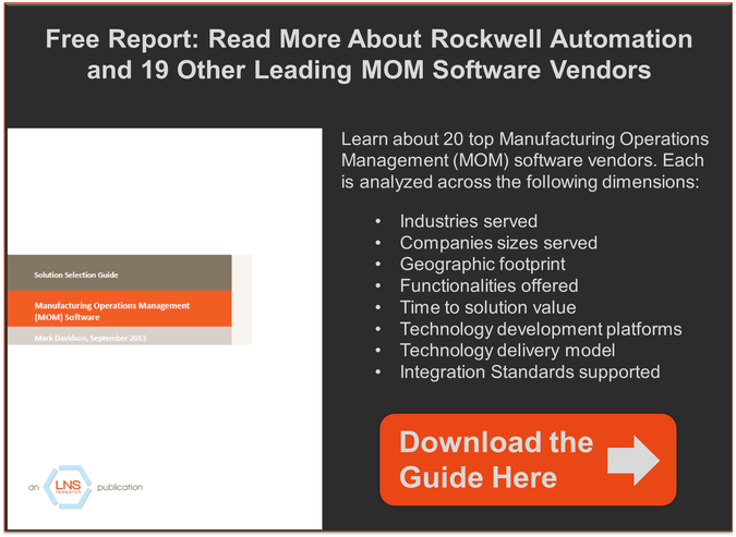 LNS Research Manufacturing Operations Management Solution Selection Guide