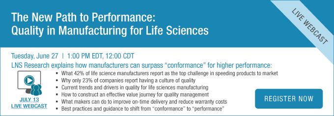 The New Path to Performance Quality in Manufacturing for Life Sciences