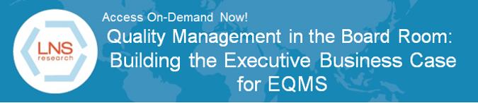 Quality Management Building a Business Case On-Demand