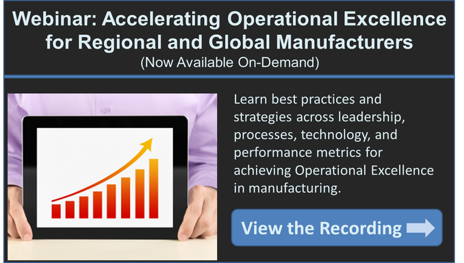manufacturing operational excellence strategy