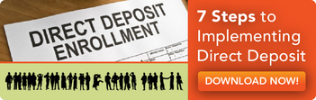 7 steps to implement direct deposit