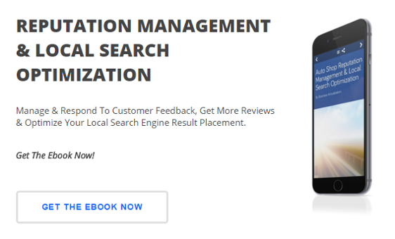 Ebook - Reputation Management & Local Search SEO For Auto Shops