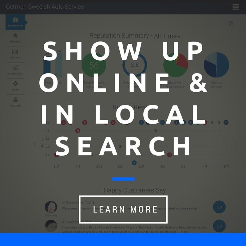 Show Up Online & In Local Search