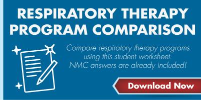 Respiratory Therapy Program Comparison - Compare respiratory therapy programs using this student worksheet. NMC answers are already included. Download Now